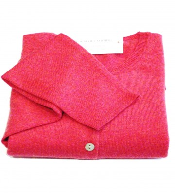 Lily Ladies' Crew Cardigan - 100% Cashmere Made in Scotland