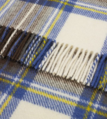Bronte by Moon Knee Blanket Muted Blue Stewart Tartan