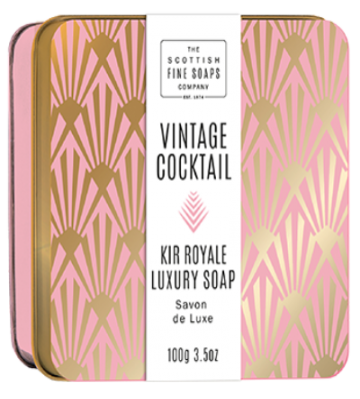 Kir Royale Vintage Cocktail Soap in a Tin