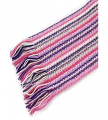 The Scarf Company Pink Striped Lace Stitch Cashmere Scarf