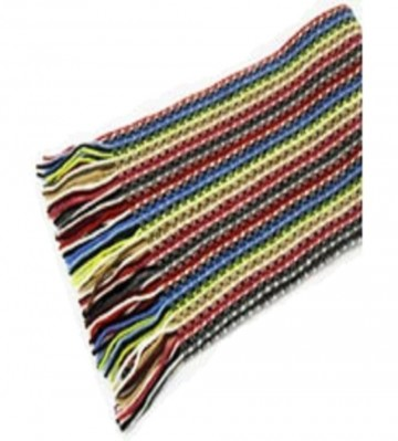 The Scarf Company Primary Colours Striped Lace Stitch Cashmere Scarf