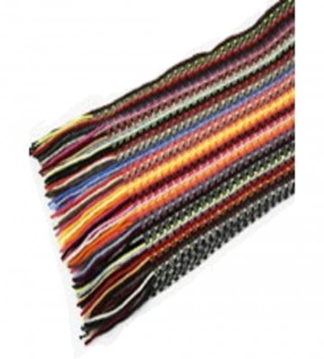 The Scarf Company Multicoloured Striped Lace Stitch Cashmere Scarf