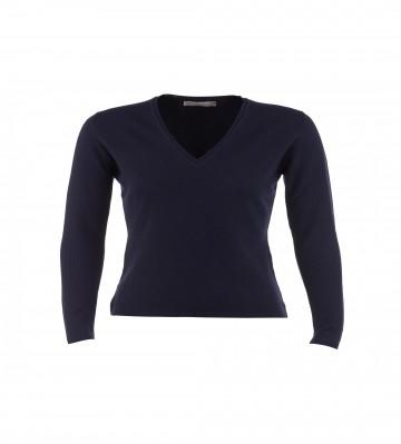 Cashmere Classic V-Neck Sweater - Navy