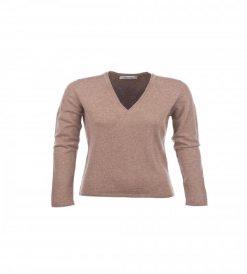 Cashmere Classic V-Neck Sweater - Otter