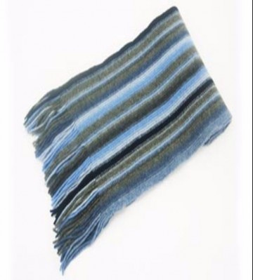 Blue & Grey Lambswool Scarf from The Scarf Company - Made in Scotland