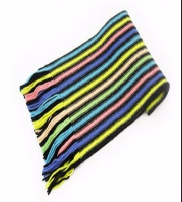 Blue & Yellow Lambswool Scarf from The Scarf Company - Made in Scotland