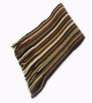 Brown Mix Lambswool Scarf from The Scarf Company - Made in Scotland