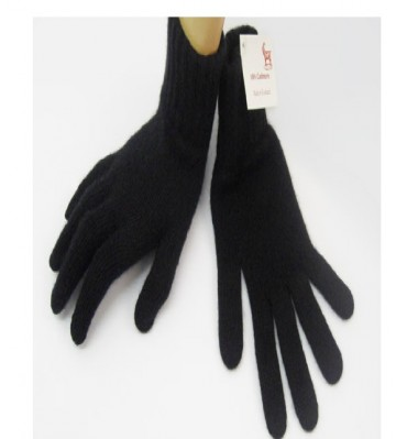 The Scarf Company Black 2 Ply Cashmere Ladies' Gloves