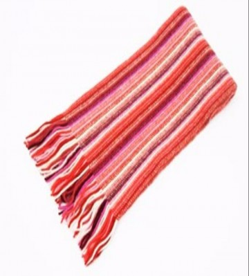 The Scarf Company Red Striped Cashmere Scarf