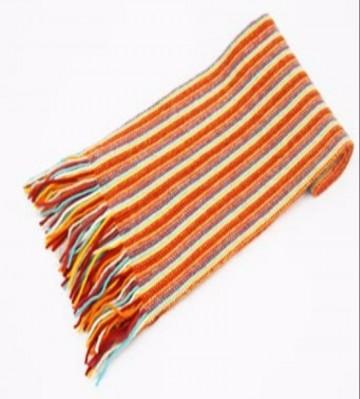 The Scarf Company Orange Striped Cashmere Scarf