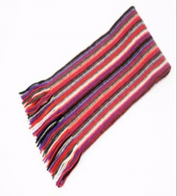 The Scarf Company Purple Striped Cashmere Scarf