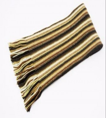 The Scarf Company Brown Striped Cashmere Scarf
