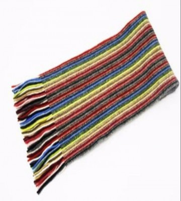 The Scarf Company Primary Colours Striped Cashmere Scarf