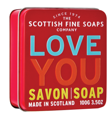 Love You Soap in a Tin