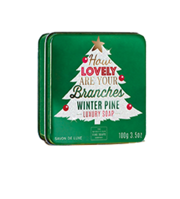 How Lovely are Your Branches Christmas Soap in a Tin