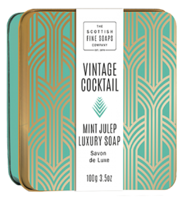 Mint Julep Vintage Cocktail Soap in a Tin