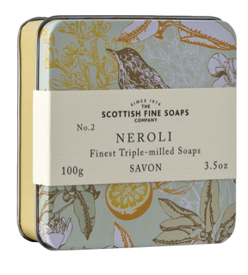 Neroli Scottish Fine Soap in a Tin - 100g Triple Milled