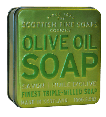 Olive Oil Scottish Fine Soap in a Tin - 100g Triple Milled