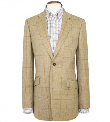 Osprey Pure New Wool Summer Tweed Jacket - Oatmeal Check