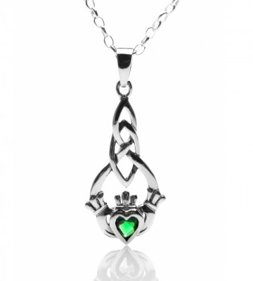 Claddagh Sterling Silver Pendant Necklace