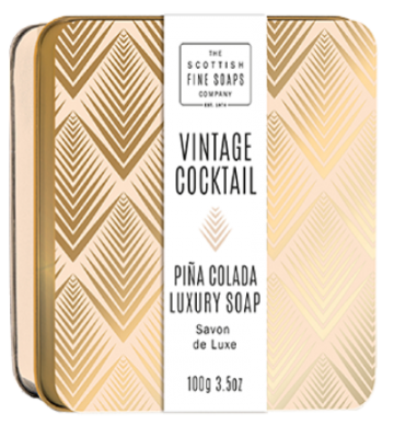 Pina Colada Vintage Cocktail Soap in a Tin