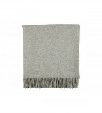 Johnston's of Elgin Plain Cashmere Throw - Celadon