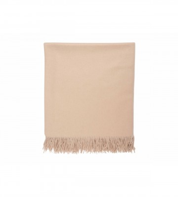 Johnston's of Elgin Plain Cashmere Throw - Oatmeal