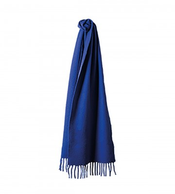 Sinclair Duncan Solid Colour Woven Cashmere Scarf - Royal Blue