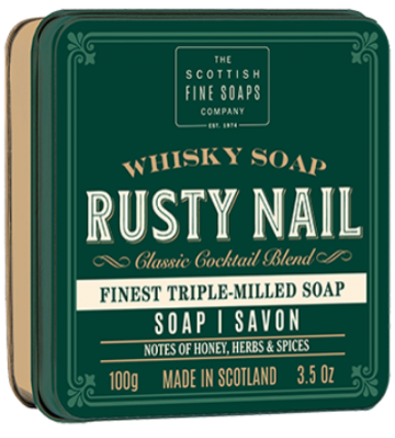 Rusty Nail Whisky Soap in a Tin