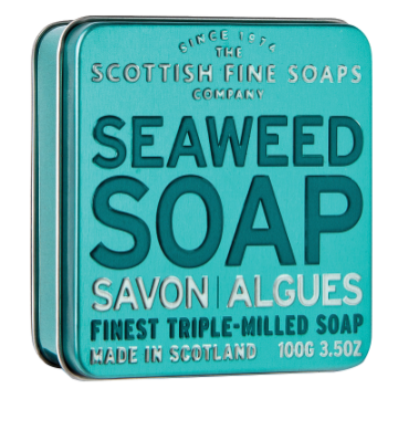 Seaweed Scottish Fine Soap in a Tin - 100g Triple Milled