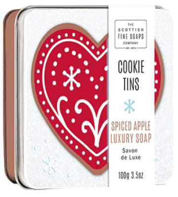 Spiced Apple Cookie Soap in a Tin