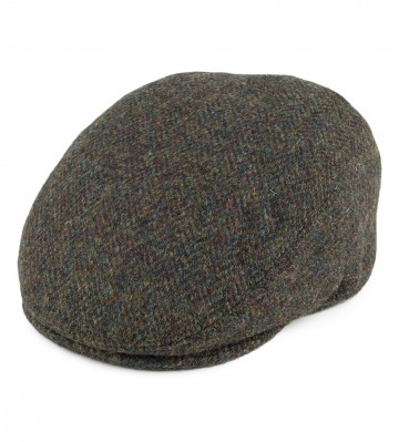 Failsworth Stornoway Flat Cap in Green Flecked 2016 Harris Tweed