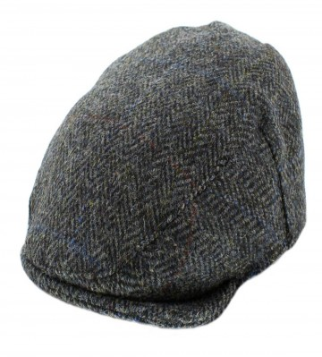 Failsworth Stornoway Flat Cap in Grey Herringbone 4615 Harris Tweed