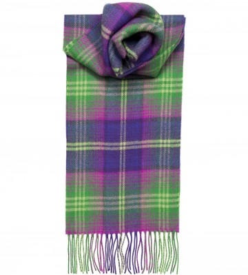 Troon Check Tartan 100% Lambswool Scarf by Lochcarron