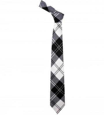 Erskine Black / White Tartan Tie