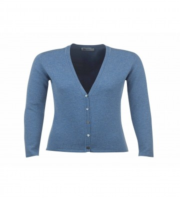 Cashmere Classic V-Neck Cardigan - Jean