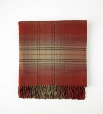 Johnston's of Elgin Cashmere Vintage Check Throw - Autumn