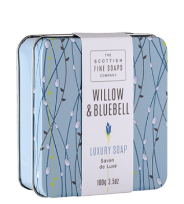 Willow & Bluebell Scottish Fine Soap in a Tin - 100g Triple Milled