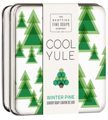Winter Pine Cool Yule Soap in a Tin